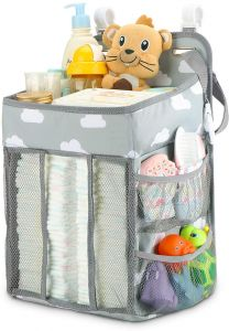 Hanging Diaper Caddy Organizer Diaper Stacker For Changing Table