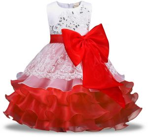 Sleeveless Girls Dresses Clothes Party Princess 5 6 7 8 Year Birthday Dress Christmas Baptism