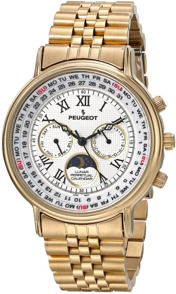 peugeot women's 7090g analog display japanese quartz gold watch