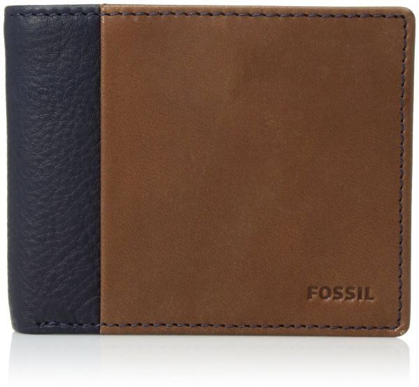 Fossil Men's RFID Flip ID Bifold Wallet, Ward-Navy, One Size
