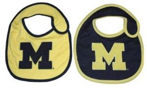 new concept 46e79 93eb0 Game Day Outfitters NCAA Michigan Wolverines Infant Bib Logo (2 Piece), One  Size, Multicolor