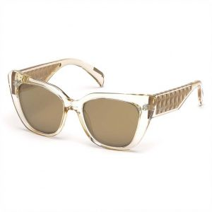 02ecc39dd15e4 Just Cavalli Oval Shaped Sunglasses for Women - Brown Mirror