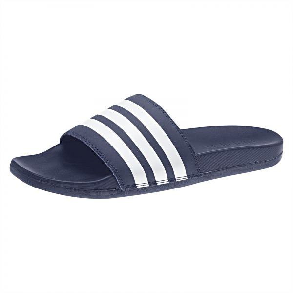 769cda85bca6 adidas Adilette Cloudfoam Plus Stripes Slides for Men - Blue