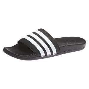 214ff9ec192 adidas Adilette Cloudfoam Plus Stripes Slides for Men - Black. by adidas