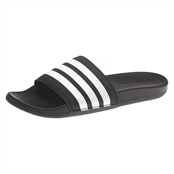 6d6467fb8 adidas Adilette Cloudfoam Plus Stripes Slides for Men - Black. by adidas