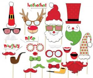 3f6a724b0e68ee 8PCS Christmas Photo Booth Props Diy Kit For Party Supplies Featuring  Glasses Moustache Deer Horn Sa