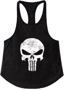 36df63c0f18c51 Mens Vest Muscle Stringer Bodybuilding Punisher Gym Tank Top T-Shirt  Sleeveless Fitness Men Musculation Tops