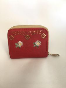 63132ac55a14 Red Faux Leather For Girls - Zip Around Wallets