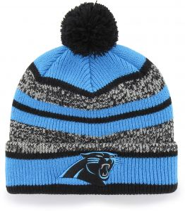 OTS NFL Carolina Panthers Huset Cuff Knit Cap with Pom 3d415e6a4