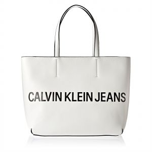 3247f4ca10 Calvin Klein Jeans Sculpted Logo Tote Bag for Women - White