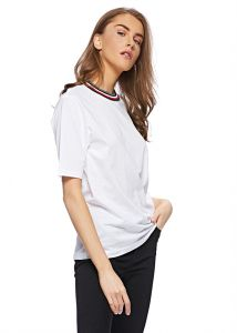9b95dbb1c Tommy Hilfiger WW0WW24505 T-Shirt for Women - Classic White