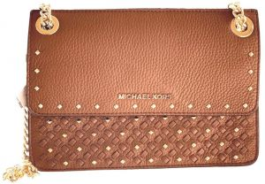 de44bbb1cdc6 Michael Kors Women's Crossbody Bag with Leather Material (Small) - Brown
