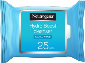 0660fbaa496 Neutrogena, Makeup Remover Wipes, Hydro Boost Cleansing, Face, Pack of 25  wipes