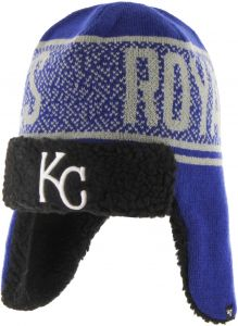 best sneakers e33c0 5187b  47 MLB Kansas City Royals Asteroid Sherpa Knit Beanie, Royal, One Size