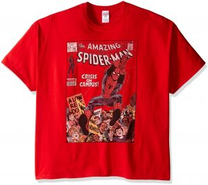 f004297bfb6 Marvel Men's Big-Tall The Amazing Spider-Man Comic T-Shirt, Red, XXX-Large
