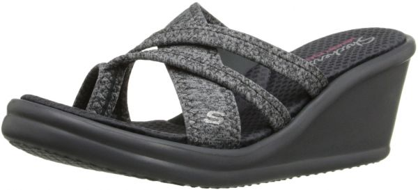 6ba599cffbd7 Skechers Cali Women s Rumblers-Young at Heart Wedge Sandal