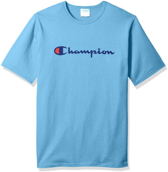 dbe33add7 Champion LIFE Men's Heritage Tee, Swiss Blue/Patriotic Script, S | KSA |  Souq