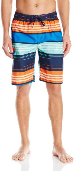 de53164451 Kanu Surf Men's Halo Stripe Swim Trunks, Navy/Orange, Large. by Kanu Surf,  Swimwear - Be the first to rate this product