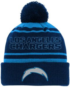 lowest price 2ff63 752b4 NFL Youth Boys Reflective Cuff Knit Pom Hat-Dark Navy-1 Size, Los Angeles  Chargers