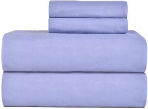 Full Blue Celeste Home Ultra Soft Flannel Sheet Set With Pillowcase Full Blue Buy Online Bedding Sets Components At Best Prices In Egypt Souq Com