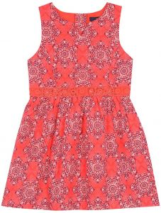 88b92628d Nautica Little Girls' Special Occasion Fashion Dress, Bright Red Bandana, 6