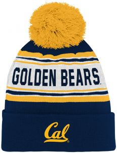 4503e2830a4 Outerstuff NCAA California Golden Bears Kids   Youth Boys Jacquard Cuffed Knit  Hat w Pom