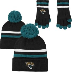 bc24d8674db NFL Youth Boys (8-20) 2 Piece Knit Hat and Gloves Set-Deep Obsidian
