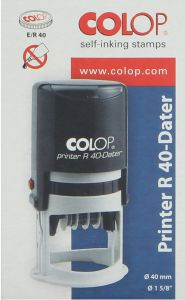Colop Printer R40 English Round Date Stamp 40 Mm