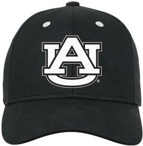 best sneakers f34b3 4033f NCAA Auburn Tigers Youth Boys Black   White Structured Adjustable Hat,  Black, Youth One Size