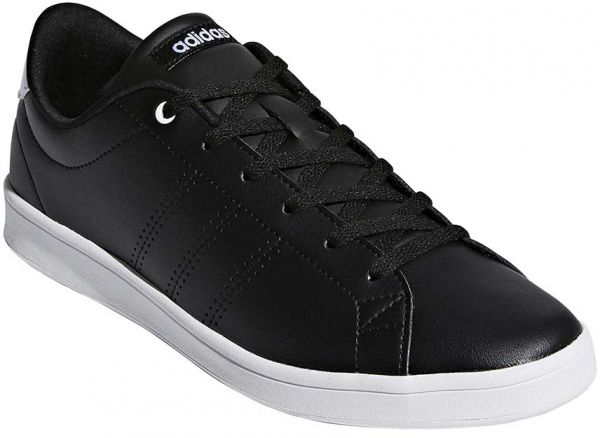 more photos de906 be7d7 adidas Advantage Clean QT Tennis Shoes for Women - Core Black FTWR ...