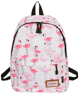 1aa2b99997219 18 inch Pink Flamingo Fashion Gril School Backpack as Outdoor Oxford Fabric  Woman Bag for Gril and Youth in Middle School and University