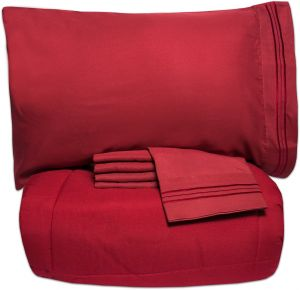 Luxury 5 Piece Bed-In-A-Bag Down Alternative Comforter /& Sheet Set 12 Colors