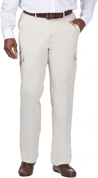 e93e6791 Haggar Men's Big-Tall Stretch Comfort Cargo Expandable Waist Classic Fit Plain  Front Pant, Putty, 60x32. by Haggar, Pants - 145 ratings