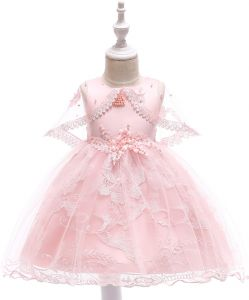 80e3b9f5912 Baby Girl Flower Lace Hemline Wedding Party Ball Gown Dress Pageant  Birthday Shawl Dresses