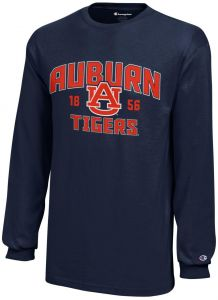 sale retailer 207f7 ccee6 Champion NCAA Auburn Tigers Youth Boys Long sleeve Jersey T-Shirt, Large,  Navy