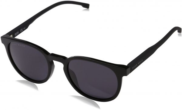 01bf99ed9 BOSS by Hugo Boss Men's Boss 0922/s Polarized Oval Sunglasses, Black, 51 mm