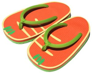 3ac94dab46c Flip Flops Funny Thong Sandals Exaggerated fruit rubber slippers radish one  size
