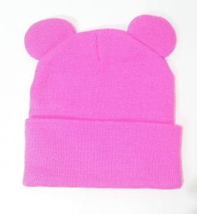 9fbacde0551ed0 Candy Pink mouse animal Beanie   Bobble Hat For Unisex kids or adults