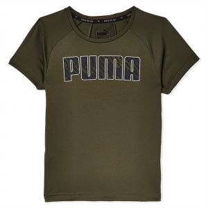 ef1e948ef18c Puma Gym Graphic Cat B forest Night Sports T-Shirt for Boys - Olive Green