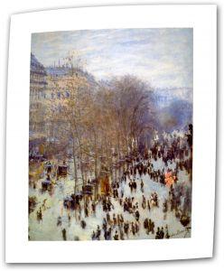 ArtWall Poplars by Claude Monet 14 by 18-Inch Flat//Rolled Canvas with 2-Inch Accent Border