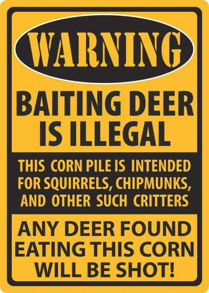 River S Edge Products Warning Baiting Deer Tin Sign Souq Uae