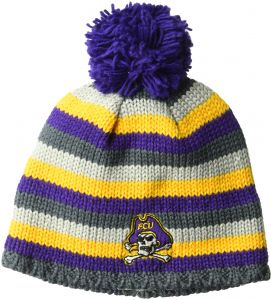 5a6a9b6febf adidas NCAA East Carolina Pirates Adult Men Textured Beanie Pom