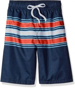 357ad1e0d0 Kanu Surf Big Boys' Archer Stripe Quick Dry Beach Board Shorts Swim Trunk,  Navy/Red, Large (14/16)
