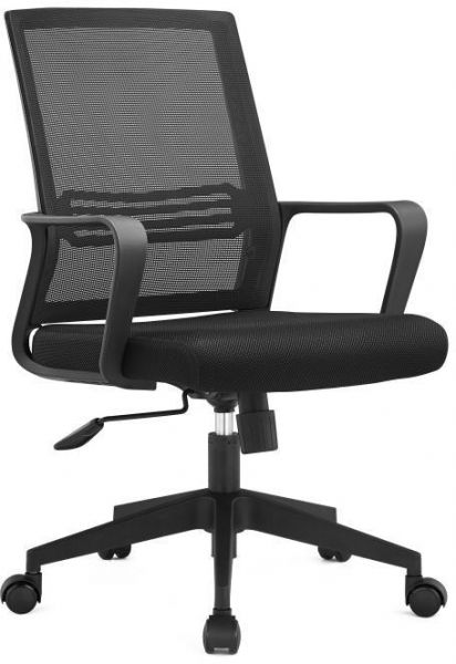 Kivik Middle Back Adjustable Executive Office Chair Mid-Back Strong Mesh Ergonomic Black Computer Chairs