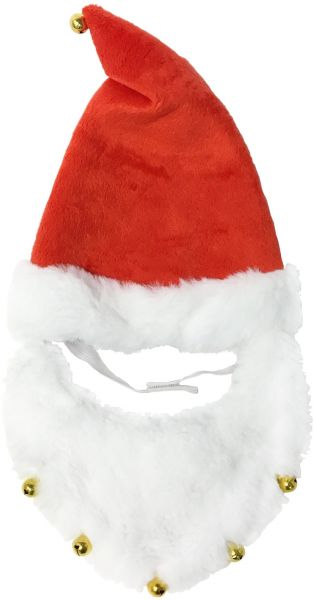 9ad36148291a8 ... Christmas Holiday Santa Hat and Beard for Dogs