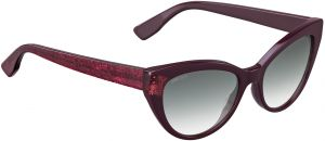 ea101dba770af Jimmy Choo Cat Eye Grey-Lens Sunglasses for Women - Burgundy