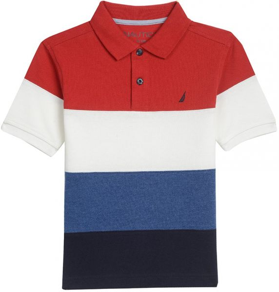 d011a77daac22d Nautica Boys' Short Sleeve Colorblock Deck Polo Shirt, Red Rouge, 7 ...