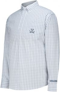 4576a460 J America NCAA Virginia Cavaliers Men's No Excuses Woven Shirt, White,  XX-Large