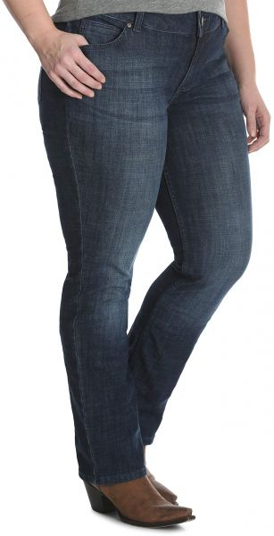 a1b533a0ace Wrangler Women s Plus Size Mid Rise Straight Jean
