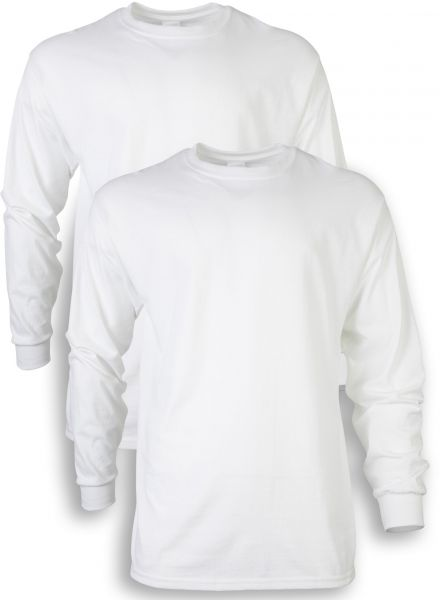 1656709f5 Gildan Men's Ultra Cotton Adult Long Sleeve T-Shirt, 2-Pack, White, Small |  KSA | Souq